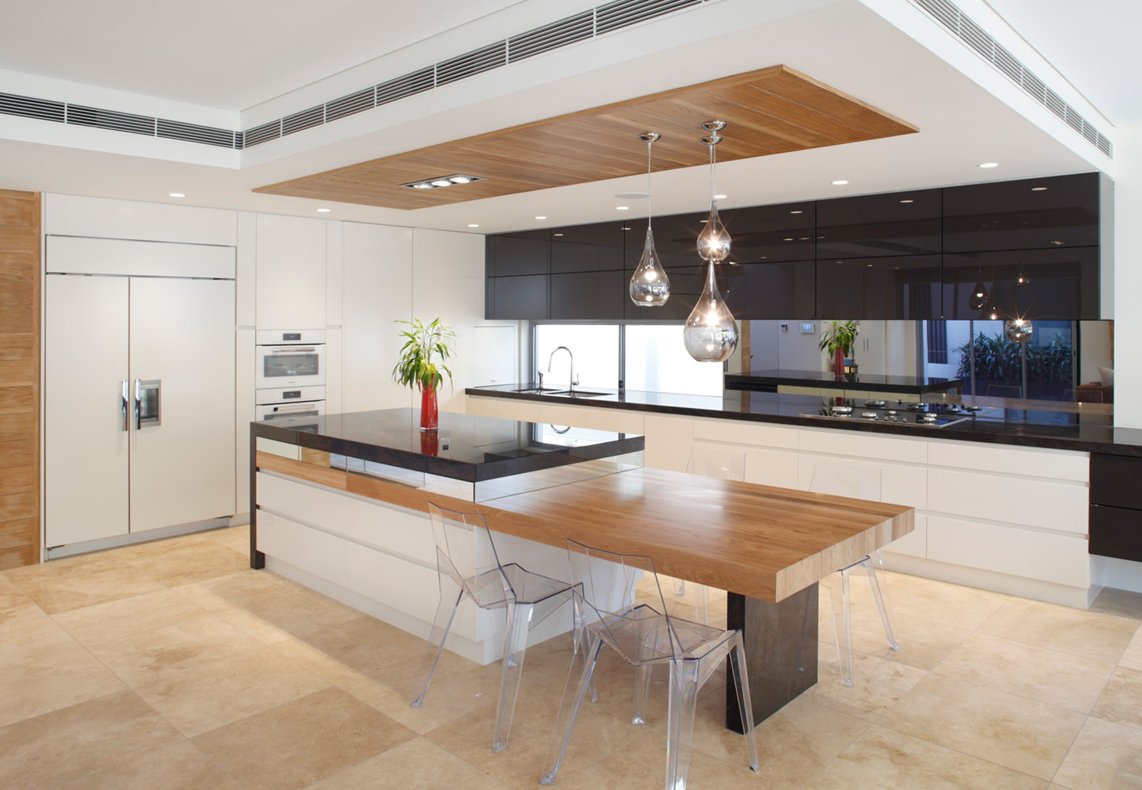kitchen with island benches