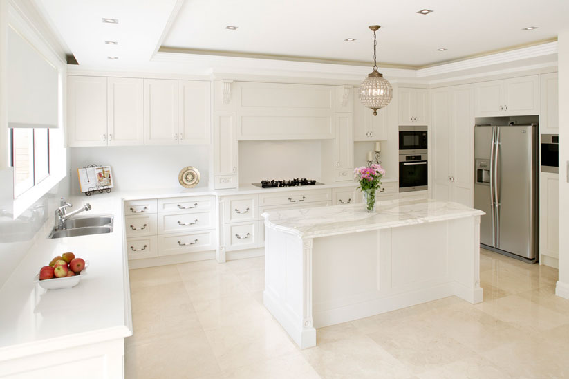 White Provincial Kitchen