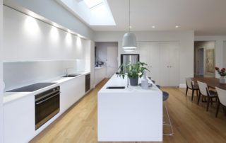 Kitchen with no window using skylight